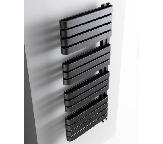 Alternate image of Bauhaus Gallery Svelte 500 x 1100mm Black Matte Towel Warmer
