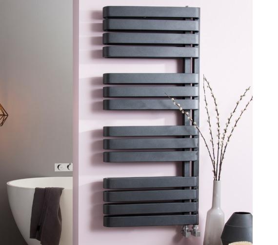 Additional image of Bauhaus Gallery Svelte 500 x 1100mm Towel Warmer Black Matte