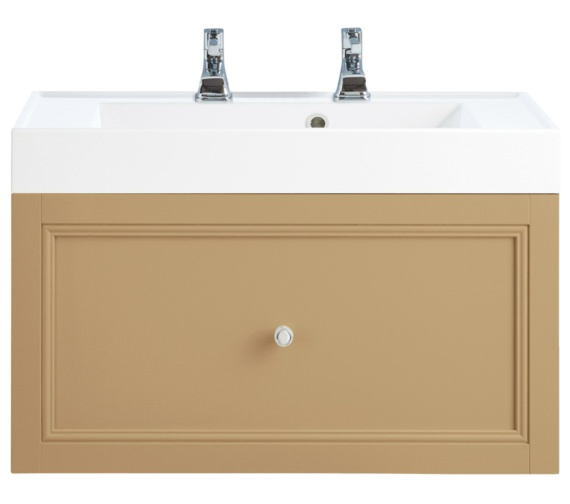 Heritage Caversham Oak 700mm 1 Drawer Wall Hung Furniture Vanity Unit