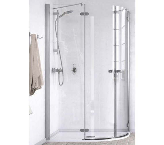 Aqualux ID Match Time 1200 x 900mm Offset Quadrant Shower Enclosure
