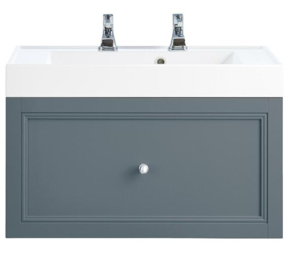 Heritage Caversham Graphite 700mm 1 Drawer Wall Hung Furniture Vanity Unit