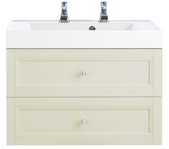 Heritage Caversham Oyster 700mm 2 Drawer Wall Hung Furniture Vanity Unit