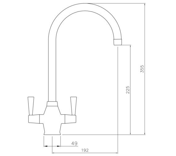 Technical drawing QS-V8606 / AT1157