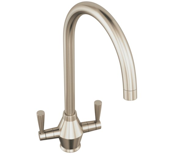 Abode Astral Brushed Nickel Monobloc Kitchen Mixer Tap