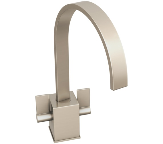 Abode Atik Brushed Nickel Monobloc Kitchen Mixer Tap