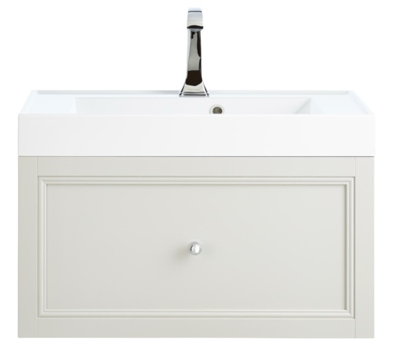 Heritage Caversham Dove Grey 700mm 1 Drawer Wall Hung Furniture Vanity Unit