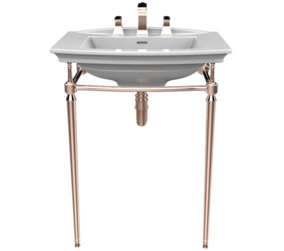 Heritage Abingdon Rose Gold Washstand For Blenheim Basin