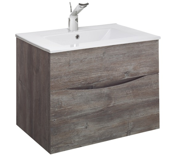Alternate image of Bauhaus Glide II 700mm Driftwood Double Drawer Vanity Unit