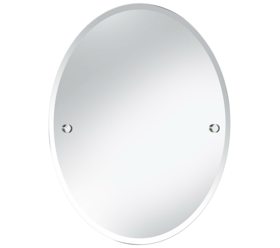 Heritage Harlesden 500 x 610mm Oval Mirror With Chrome Fitting