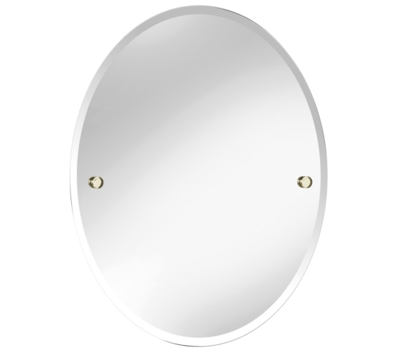 Heritage Harlesden 500 x 610mm Oval Mirror With Vintage Gold Fitting