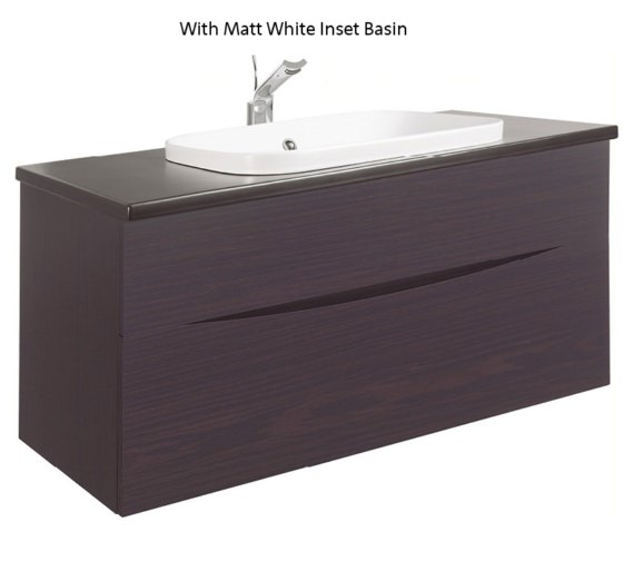 Alternate image of Bauhaus Glide II Wenge 1000mm Unit With PlusTon Worktop And Inset Basin
