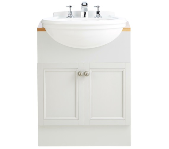 Heritage Claverton 460mm Medium Semi-Recessed Basin