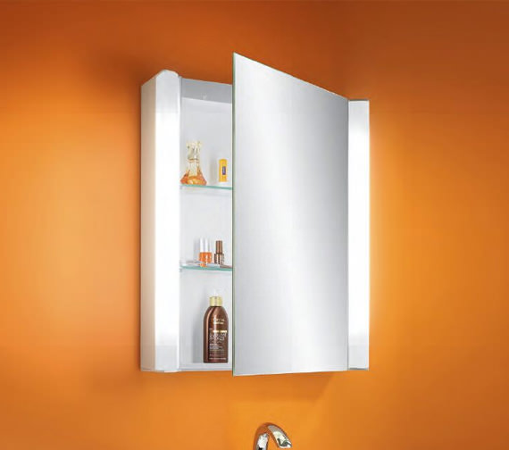Additional image of Schneider Moanaline 1 Door Mirror Cabinet 550 x 640mm