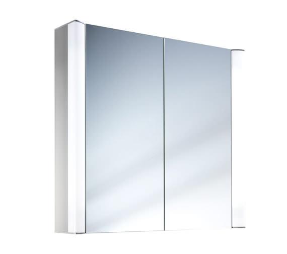 Schneider Moanaline 2 Door Mirror Cabinet 800 x 640mm