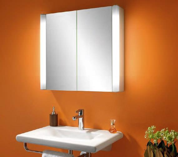 Additional image of Schneider Moanaline 2 Door Mirror Cabinet 800 x 640mm