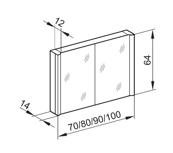 Technical drawing QS-V16637 / MOA/SL 100/2/FL