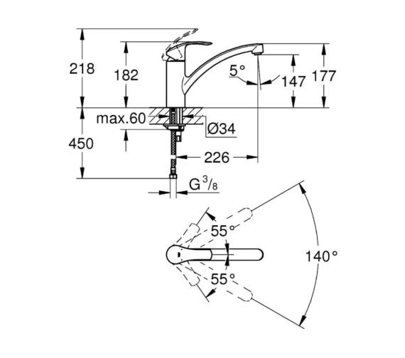 Technical drawing QS-V81805 / 3328120E