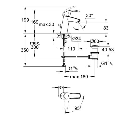 Technical drawing QS-V81806 / 2339310E
