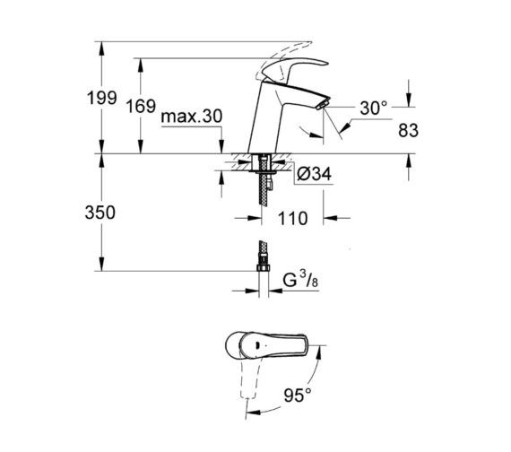 Technical drawing QS-V81807 / 2339510E