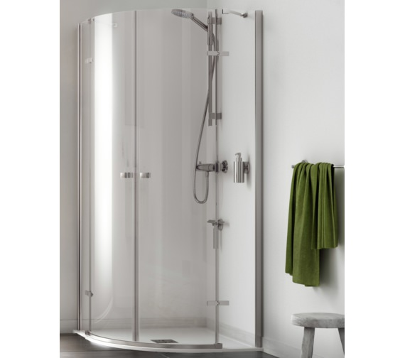 Aqualux Origin 1200 x 900mm Offset Quadrant Shower Enclosure