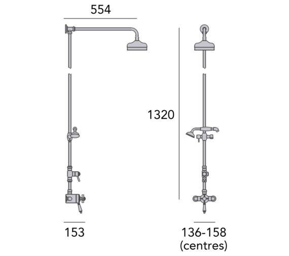 Technical drawing QS-V84150 / SDCDUAL07
