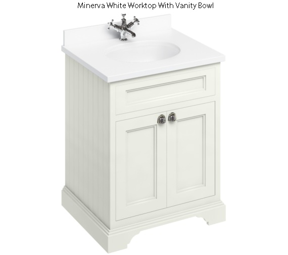 Burlington 650mm Sand Two Door Unit And Minerva Worktop With Basin