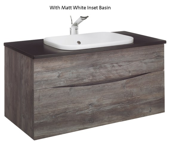 Alternate image of Bauhaus Glide II Driftwood 1000mm Unit With PlusTon Worktop And Inset Basin