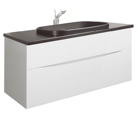Bauhaus Glide II White 1000mm Unit With PlusTon Worktop And Inset Basin