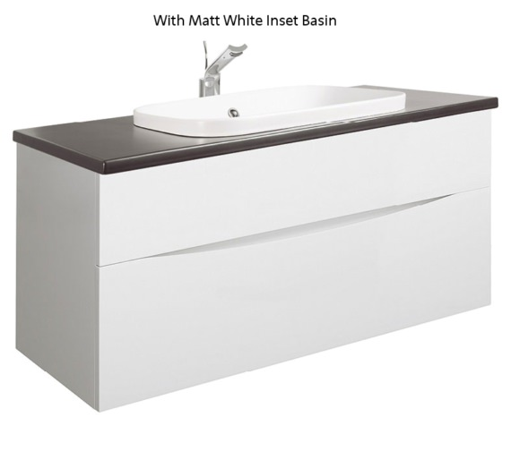 Alternate image of Bauhaus Glide II White 1000mm Unit With PlusTon Worktop And Inset Basin