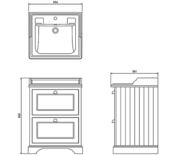 Technical drawing QS-V71465 / FF9W