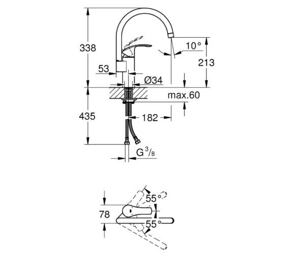 Technical drawing QS-V81803 / 33202002