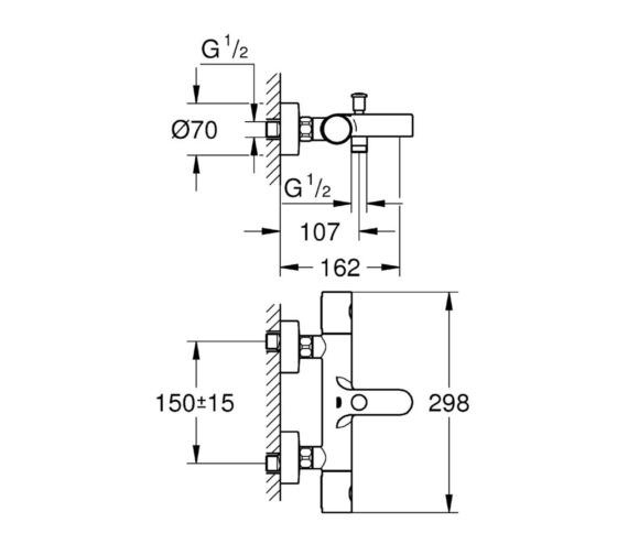 Technical drawing QS-V81817 / 34215002