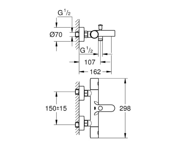 Technical drawing QS-V81818 / 34441002