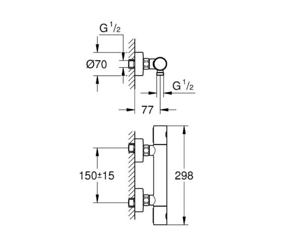 Technical drawing QS-V81820 / 34440002