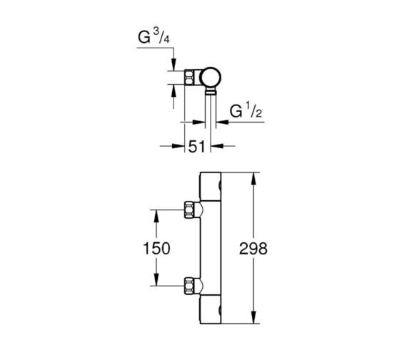 Technical drawing QS-V81819 / 34268002