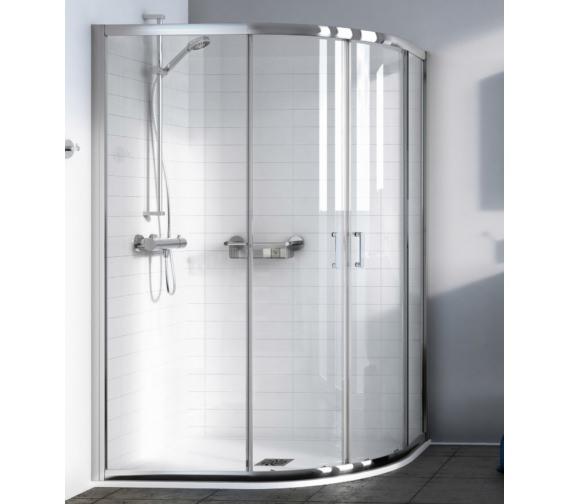 Aqualux Source 1200 x 800mm Offset Quadrant Shower Enclosure