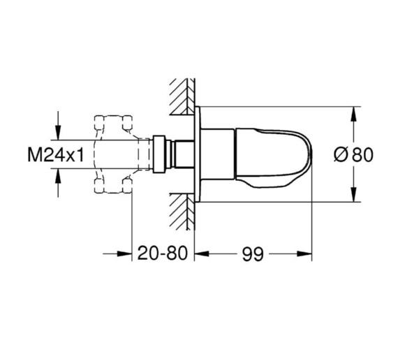 Technical drawing QS-V81823 / 19981000