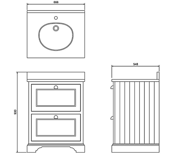 Technical drawing QS-V83745 / FF9W