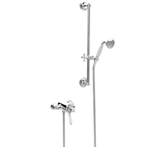 Heritage Dawlish Exposed Thermostatic Chrome Shower Valve With Flexible Riser Kit