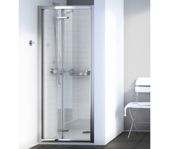 Aqualux Source 900mm Bi-fold Shower Door