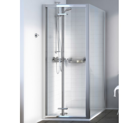 Alternate image of Aqualux Source 800mm Bi-fold Shower Door
