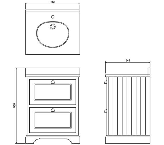 Technical drawing QS-V83746 / FF9S
