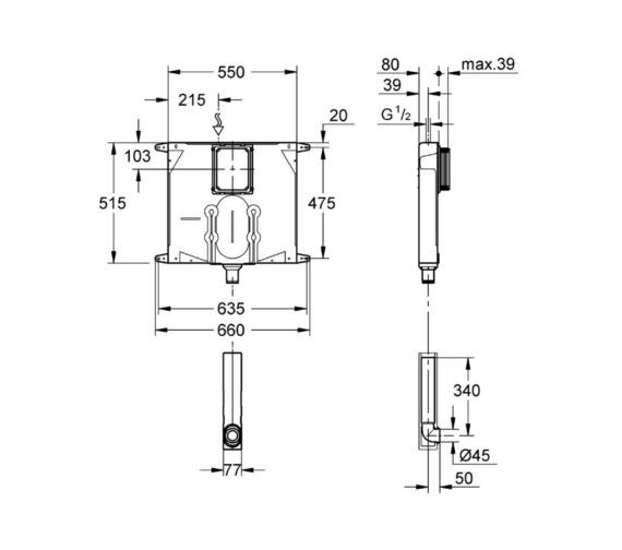 Technical drawing QS-V81816 / 38863000