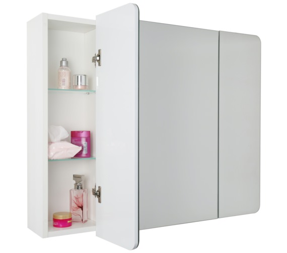 Alternate image of Croydex Ryton Triple Door Tri-View Cabinet - WC710322