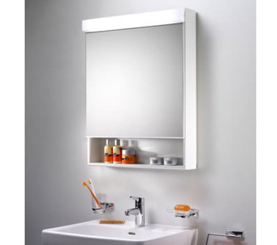 Schneider Lowline 60cm Mirror Cabinet With Flourescent Lighting And Shelf