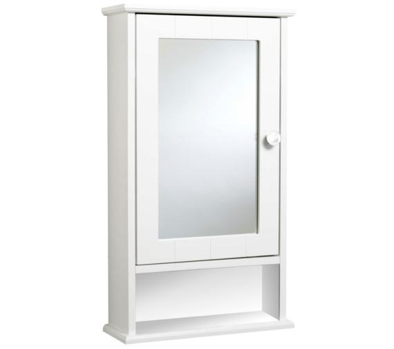Croydex Langham Single Door Mirror Cabinet - WC431222