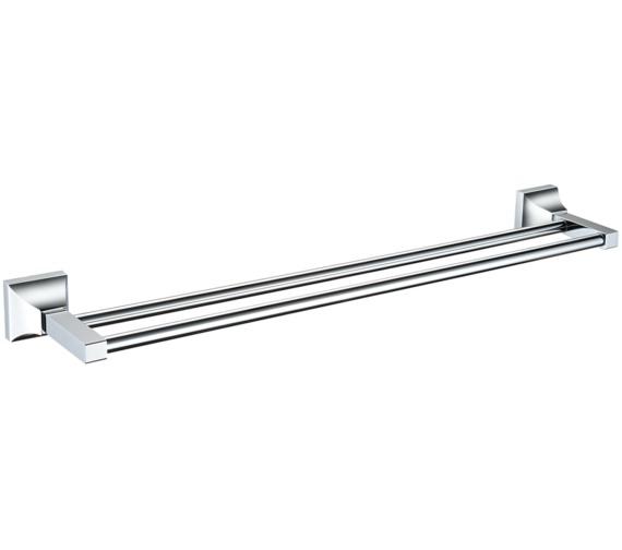 Heritage Chancery 590mm Double Bar Chrome Towel Rail