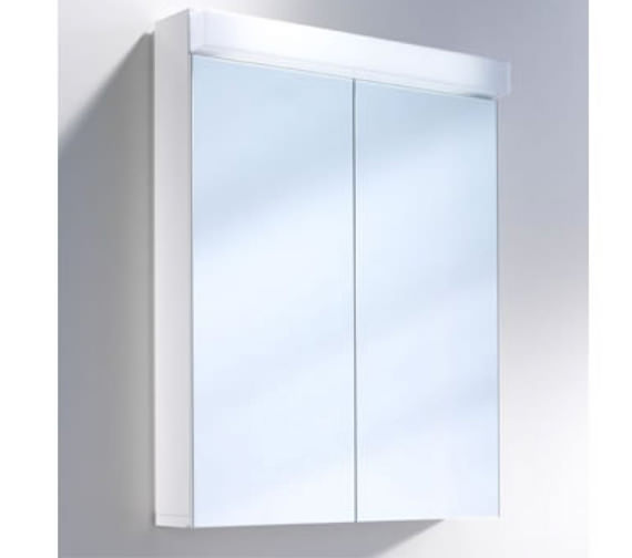 Schneider Lowline 2 Door Mirror Cabinet With Flourescent Lighting - Available Width 600 - 900 - 1200mm