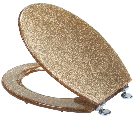 Additional image of Croydex Glitter Gold Toilet Seat
