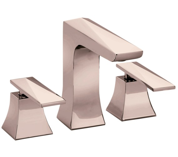 Heritage Hemsby Rose Gold 3 Taphole Basin Mixer Tap With Waste